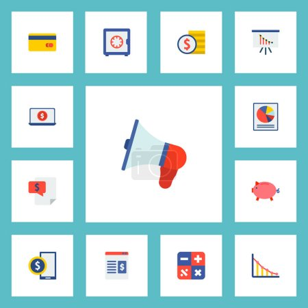 Set of analytics icons flat style symbols with analytics, safe, bill and other icons for your web mobile app logo design.