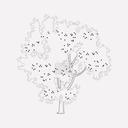 Photo pour Élément de ligne icône cerisier. illustration de la ligne d'icône cerisier isolé sur un fond propre pour la conception de logo de votre application mobile web . - image libre de droit
