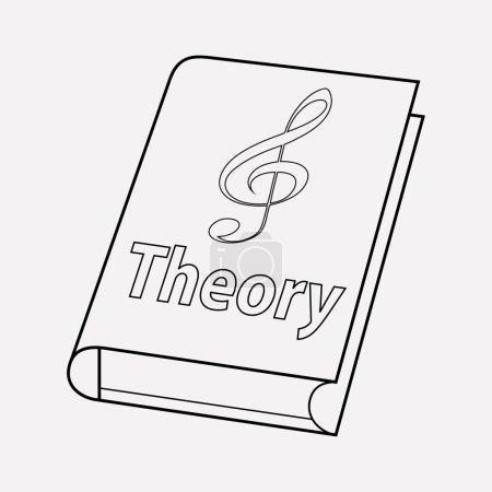 Photo pour Élément de ligne d'icône de théorie de musique. illustration de la théorie de musique icône ligne isolé sur fond propre pour votre création de logo web application mobile. - image libre de droit