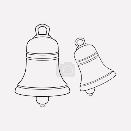 Glockensymbol-Zeilenelement. Illustration der Glockensymbollinie isoliert auf sauberem Hintergrund für Ihr Web-Mobile-App-Logo-Design.