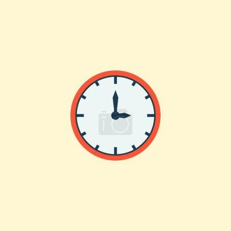 Photo pour Élément plat icône de temps. illustration d'icône de temps plat isolé sur fond propre pour votre création de logo web application mobile. - image libre de droit