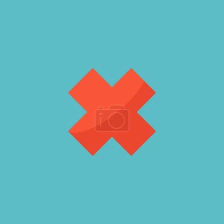 Photo pour Annuler icône élément plat. illustration de l'icône annuler plat isolé sur fond propre pour la conception de logo de votre application mobile web . - image libre de droit