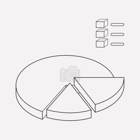 Photo for Diagram icon line element.  illustration of diagram icon line isolated on clean background for your web mobile app logo design. - Royalty Free Image