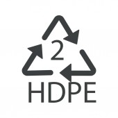 Recycling symbol plastic HDPE 2 recyclability type recycle arrows