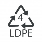 Recycle arrows triangle plastic recycling symbol LDPE 4