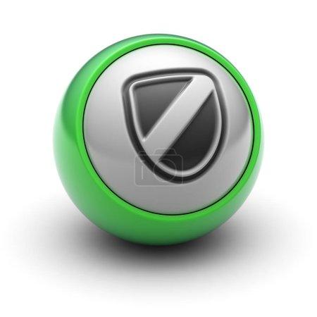 Photo pour L'icône sur la balle . - image libre de droit