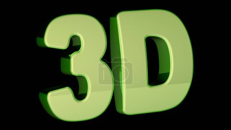 3D word on black background.