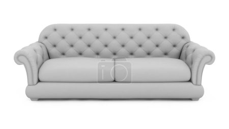 Photo for 3D model of a sofa. - Royalty Free Image