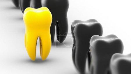 Photo pour Symbole de dents. illustration 3D. - image libre de droit