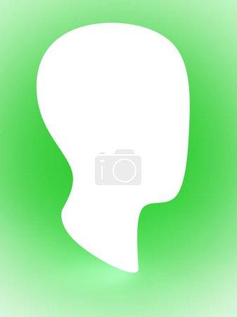 Photo pour Le profil d'une tête . - image libre de droit