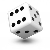 Dice in the white background. 3D Illustration.
