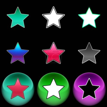 Photo for The star icon. Color illustration. - Royalty Free Image
