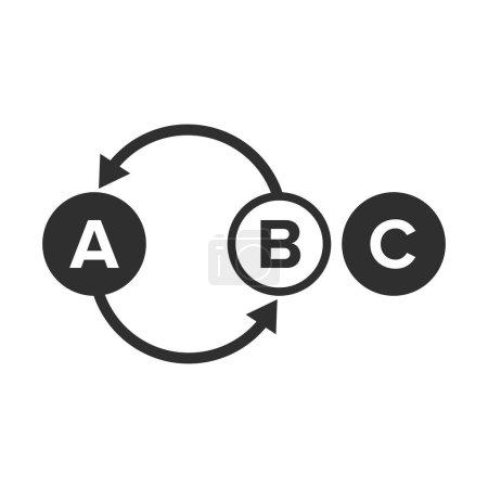 Ilustración de Elemento o ion mudanza reacción de desplazamiento - Vector - Imagen libre de derechos