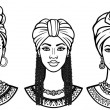 African beauty: animation portrait of the  beautif...