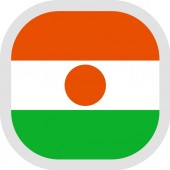 Icon square shape with Flag on white background