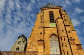 Cathedral in Wetzlar. Germany. Gothic style. Romanesque style.
