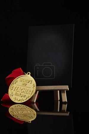 golden medal for teacher as appreciation