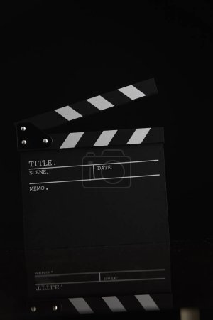 Photo for Clapper board on the blackbackground - Royalty Free Image