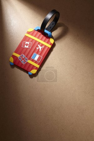 close up of luggage tag