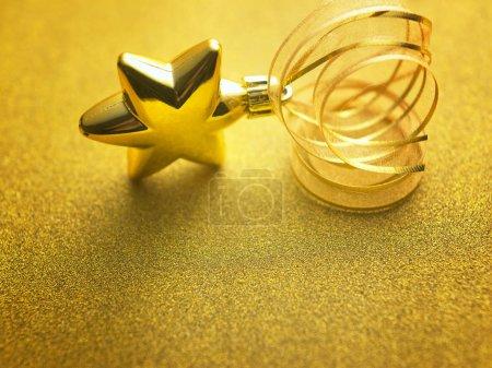 golden star shape christmas decoration ornament
