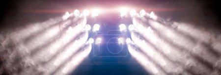 Photo pour Fond musical. Ensemble de lumières. Concept de musique live et concerts . - image libre de droit