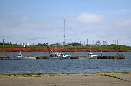 Fishing boats tied up at the pier at Port Borden PEI