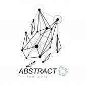 Abstract three-dimensional shape vector design element Innovation technologies abstract emblem