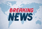 Breaking News vector background world news TV or internet channel translation illustration with world map and typing news website or blog live news video or articles Vector design