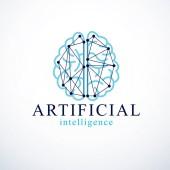 Artificial intelligence concept vector logo design Human anatom
