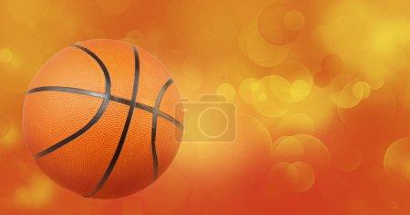 Photo pour Basketball et cercles jaunes orange fond abstrait - image libre de droit