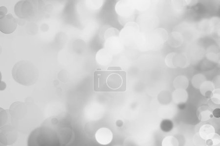 Gray and white circles abstract defocused bokeh background