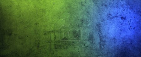 Closeup of rough blue and green textured background
