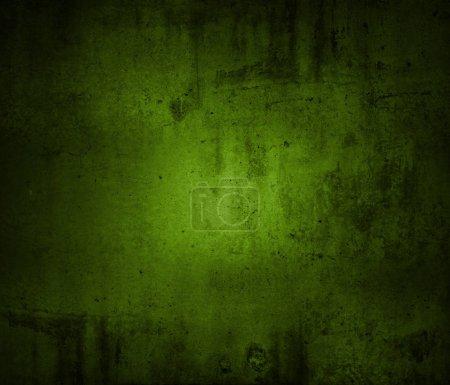 Closeup of green textured wall