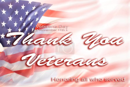 American flag. Veterans Day message