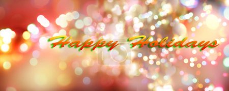 Happy Holidays colorful blurred circles background