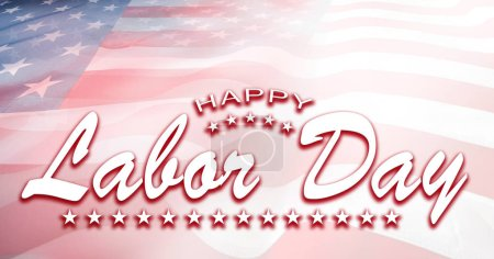 Photo for American flag. Happy Labor Day - Royalty Free Image