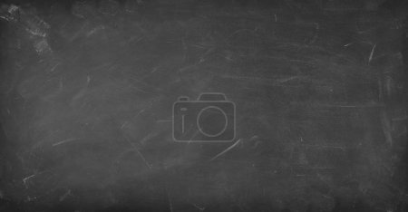 Photo for Chalk rubbed out on blackboard background - Royalty Free Image