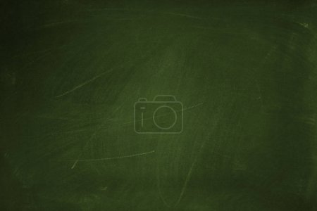 Photo for Chalk rubbed out on green chalkboard background - Royalty Free Image