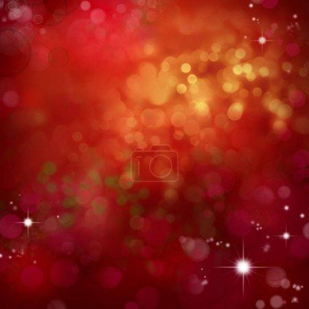 Photo pour Cercles et étoiles sur fond rouge. Fond de Noël - image libre de droit
