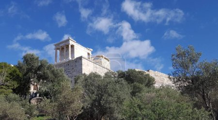 Photo for Temple of Athena in Propylaia on top of Acropolis Hill, Athens, Greece - Royalty Free Image