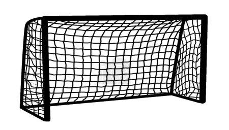 Soccer goal on white background, vector illustration