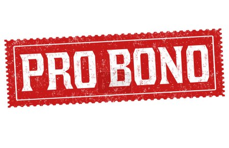 Illustration pour Signe ou timbre pro bono sur fond blanc, illustration vectorielle - image libre de droit