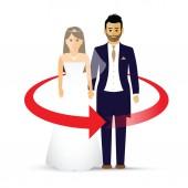 wedding couple as an icon