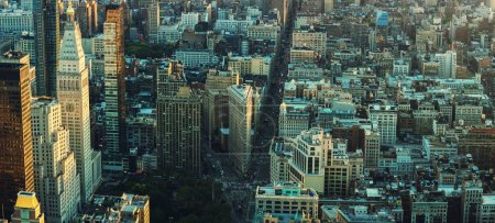 Photo for New York City Manhattan skyline panorama. Top view - Royalty Free Image
