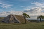 Pre-Columbian archaeological site of Xochicalco in Mexico.  UNESCO World Heritage Site