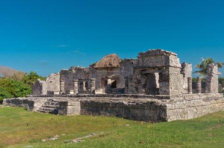 Ruins of Tulum, pre-Columbian Mayan city in Coba, Mexico
