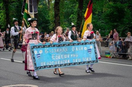 NEW YORK CITY - SEPTEMBER 15, 2018: 61 annual German-American Steuben Parade on Fifth Avenue celebrating German-American heritage