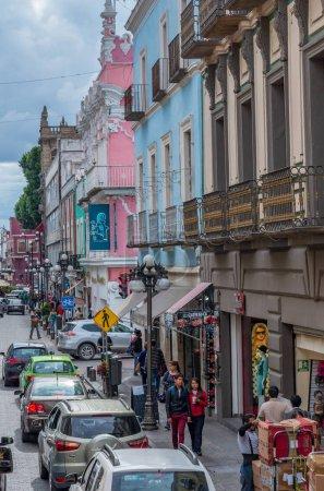 Foto de Puebla, México - 10 de noviembre de 2016: Calle en Puebla, México - Imagen libre de derechos
