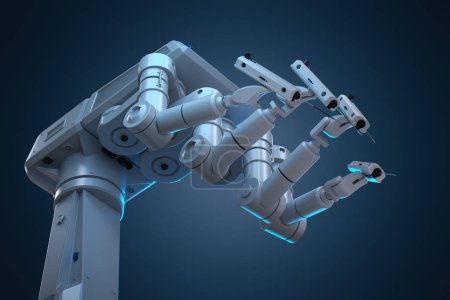 Photo for 3d rendering robot surgery machine with four arms - Royalty Free Image