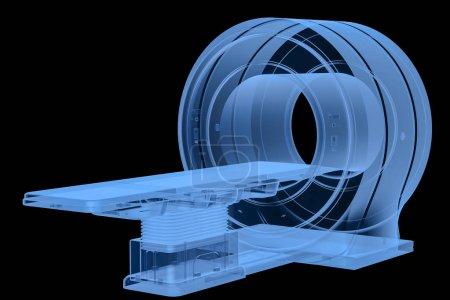 Photo pour Machine de balayage par IRM à rayons X de rendu 3d ou écart de balayage d'imagerie par résonance magnétique - image libre de droit